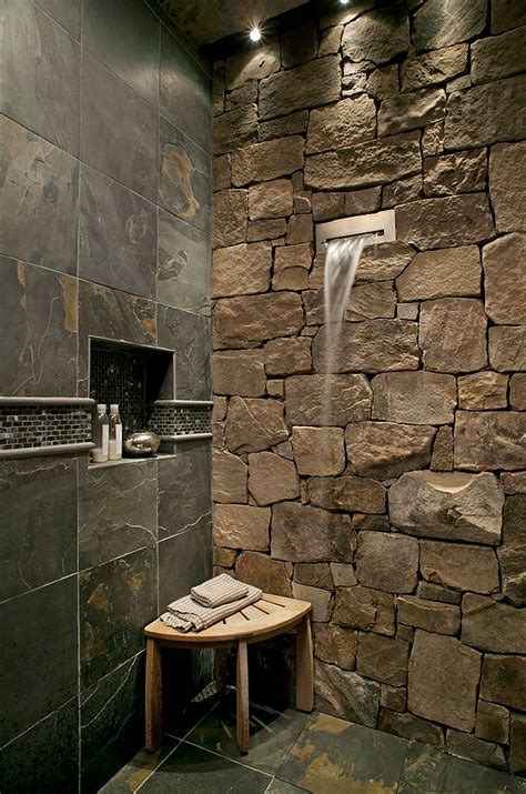 rock tile shower 30 exquisite inspired bathrooms with walls