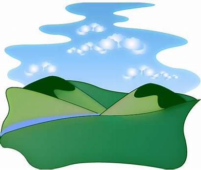 Clipart Landscape River Scenic Clip Cliparts Landscaping