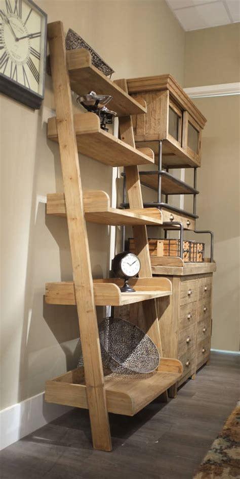 handmade lean  shelf unit reclaimed aged wood