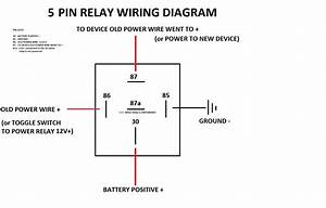 Simple 5 Pin Relay Diagram Wiring Diagram