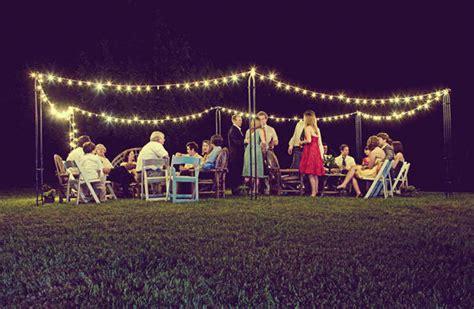 easy and glamorous diy outdoor wedding lighting warisan