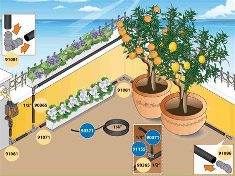 impianti irrigazione terrazzo impianto di irrigazione goccia realizzare fai da te