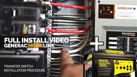 how i installed the generac generator transfer switch install home link