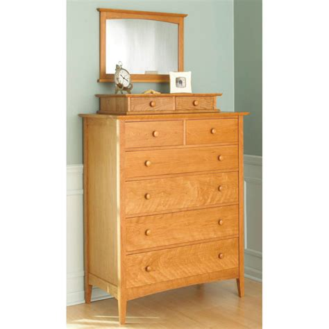 Bedroom Set Plans by Shaker Style Dresser With Valet And Mirror Woodworking