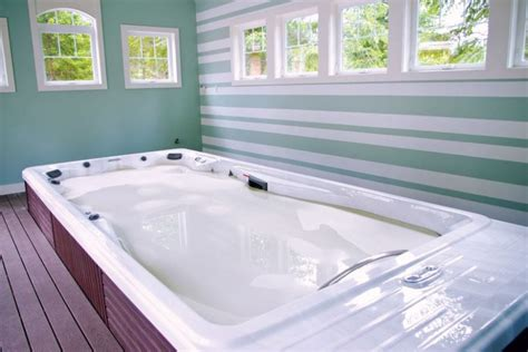 having a hot tub indoors indoor hot tub installations in detail pool spa news