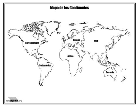 Continente Oceania para colorear sin nombres Imagui