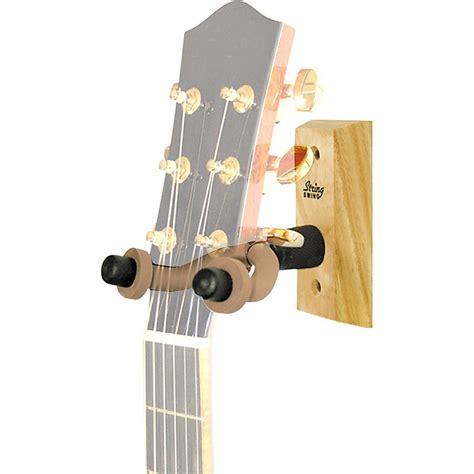 guitar wall hanger string swing wood guitar wall hanger musician s friend 1521