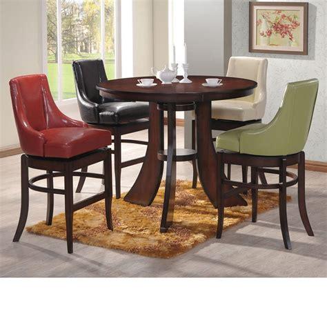 bar dining table set dreamfurniture com vinson bar height dining table set