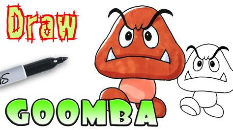 How To Draw Goomba
