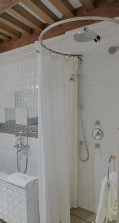tringle rideau de angle sur mesure baignoire sous pente combles salle de bain