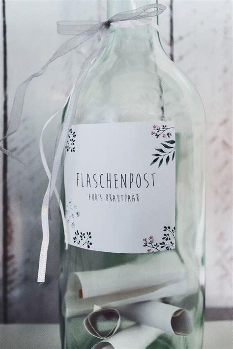 flaschenpost gaestebuch alternative fuer die hochzeit