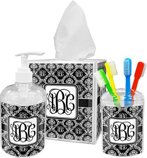 monogrammed damask tissue box cover personalized potty training concepts