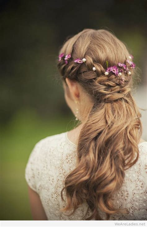 floral hairstyles   wedding