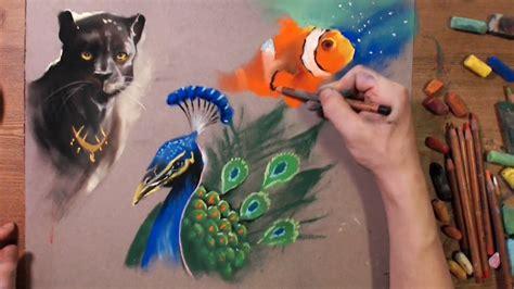 draw animal  soft pastel speed drawing