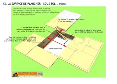 surface de plancher illustration sur un projet de maison votre permis de construire en