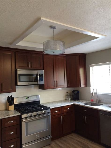 lights for the kitchen ceiling fluorescent kitchen light box makeover building a nest 9022