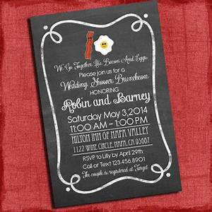 bacon and eggs couples coed wedding shower or wedding With coed wedding shower invitations