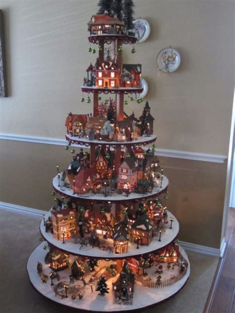 Lemax Halloween Houses by How To Build A Village House Display Stand Dept 56 Lemax