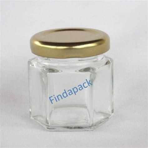 petits pots hexagonaux 47 ml avec couvercle au choix livraison 72 heures