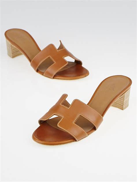manolo blahnik hermes gold calfskin leather oasis sandals size 4 5 35