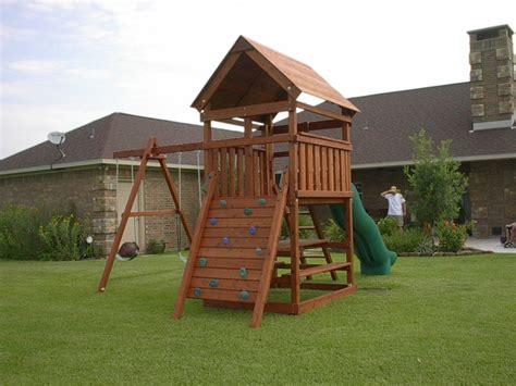 triton playset diy wood fort  swingset add  plans