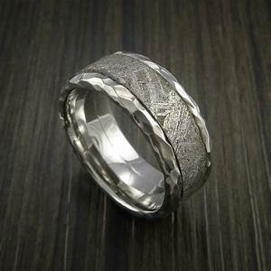 gibeon meteorite in cobalt chrome wedding band made to any With wedding rings made from meteorite