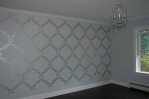 Silver wall paint ideas crafty teacher lady july lentine for Interior wall painting ideas stenciling