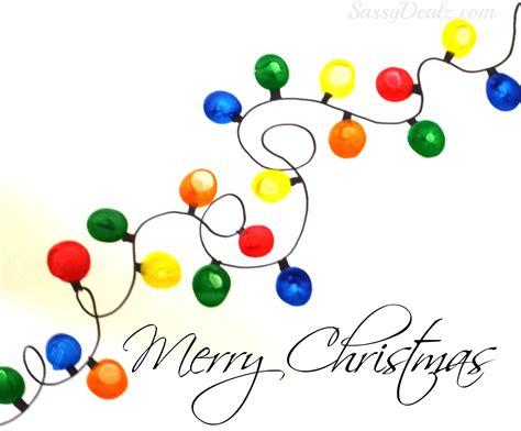 fingerprint christmas light craft for kids diy christmas