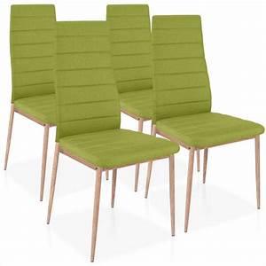 Lot De 4 Chaises Scandinaves : chaises scandinave elsa tissu vert lot de 4 pas cher scandinave deco ~ Teatrodelosmanantiales.com Idées de Décoration