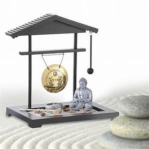 Zen Garten Miniatur : zen garten gong miniatur deko mit buddhafigur f r zu hause ~ A.2002-acura-tl-radio.info Haus und Dekorationen