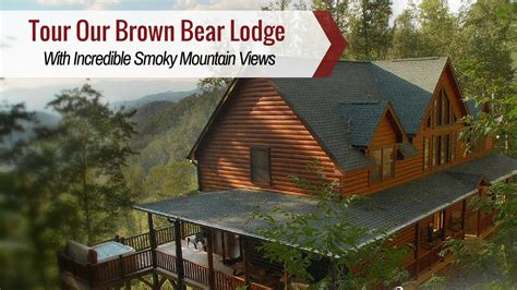 bryson city cabin rentals brown bear lodge