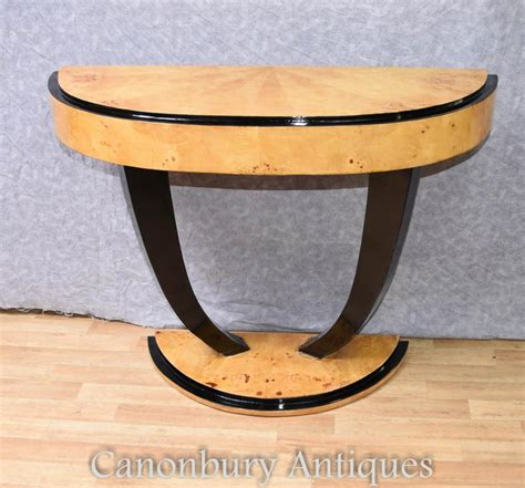 deco console table half tables 1920s ebay