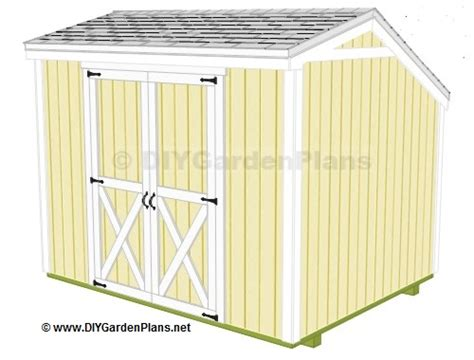 nale complete diy 8x8 shed plans hip