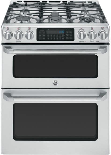 ge cgssetss     double oven gas range   sealed burners  cu ft oven