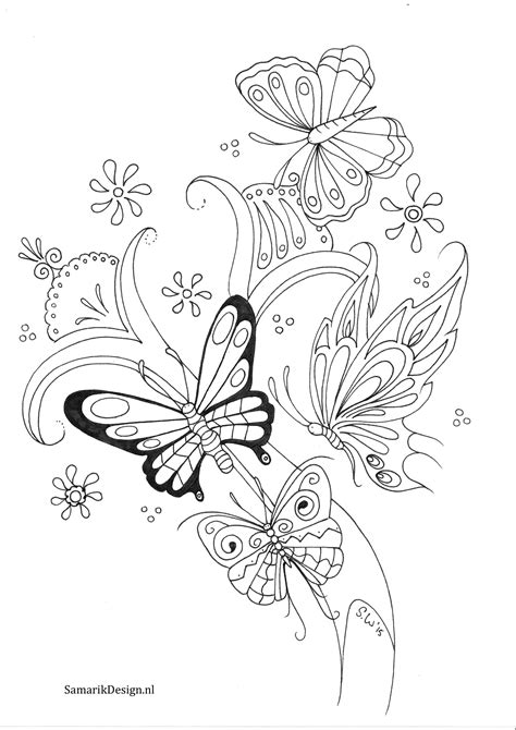 Vlinder doodle | Butterfly coloring page, Coloring pages