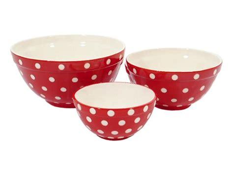 Set Of 3 Red Polka Dot Bowls  Kitchen Items Pinterest