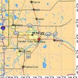 City of Greeley Colorado Map