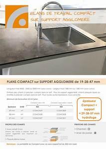 Support Plan De Travail : plan de travail compact sur support agglom r fidelem ~ Farleysfitness.com Idées de Décoration