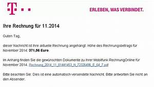 Telekom Rechnung Online Anschauen : banking trojaner im gep ck telekom warnt vor falschen rechnungen n ~ Themetempest.com Abrechnung