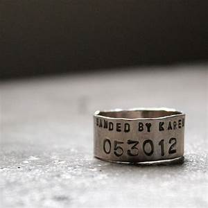 sterling silver duck band wedding ring personalized 3 8 With duck band wedding rings for men