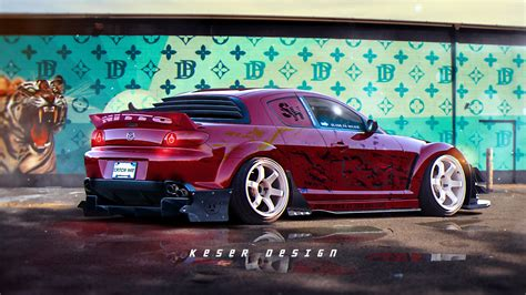ArtStation - Mazda RX8, Matija Keser