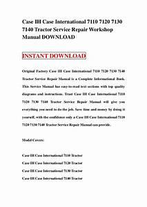 Case Ih 7140 Tractor Parts Diagram  U2022 Downloaddescargar Com