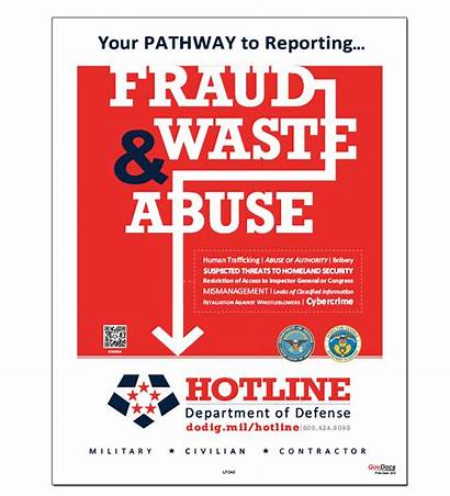 Fraud Abuse Waste Hotline Poster Department Posters