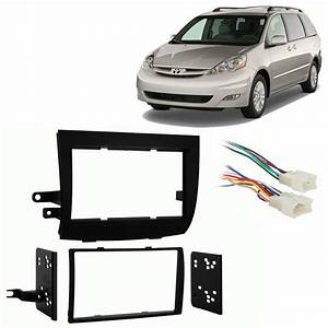 Toyota Sienna 2004-2010 Double Din Stereo Harness Radio Install Dash Kit Package