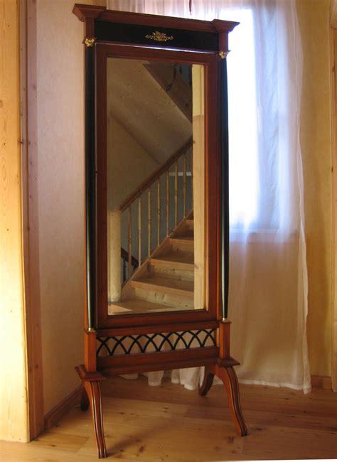 biedermeier standspiegel schwerer spiegel antik kirsche
