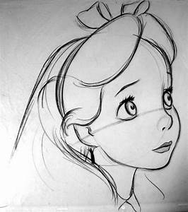 alice in wonderland drawings | drawing of Alice, by Milt ...