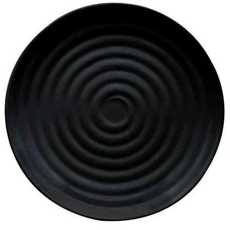 ml  bk milano   black melamine  plate pack