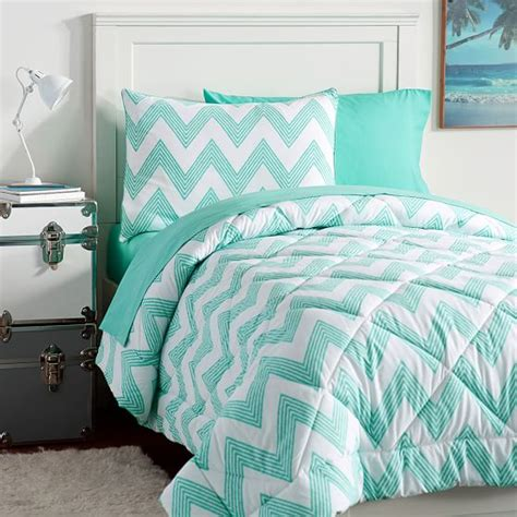 zig zag stripe value comforter set pbteen