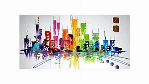 Tableau Peinture Moderne : tableau peinture huile moderne 2 ~ Teatrodelosmanantiales.com Idées de Décoration