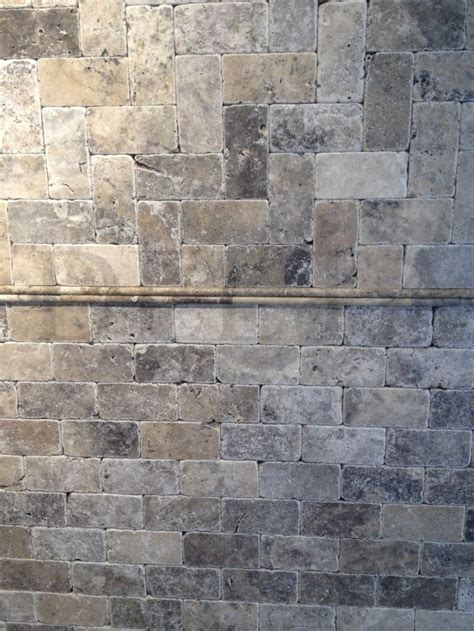 silver travertine tumbled  dg